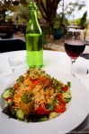 Raw pasta dish & Talijancich Rose at the Swan Valley Cafe