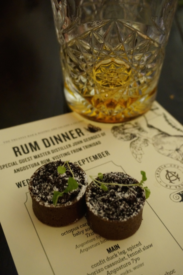 Rum Dinner at Angel's Cut by The Trustee - Angostura 1824 & Jaffas Tarts