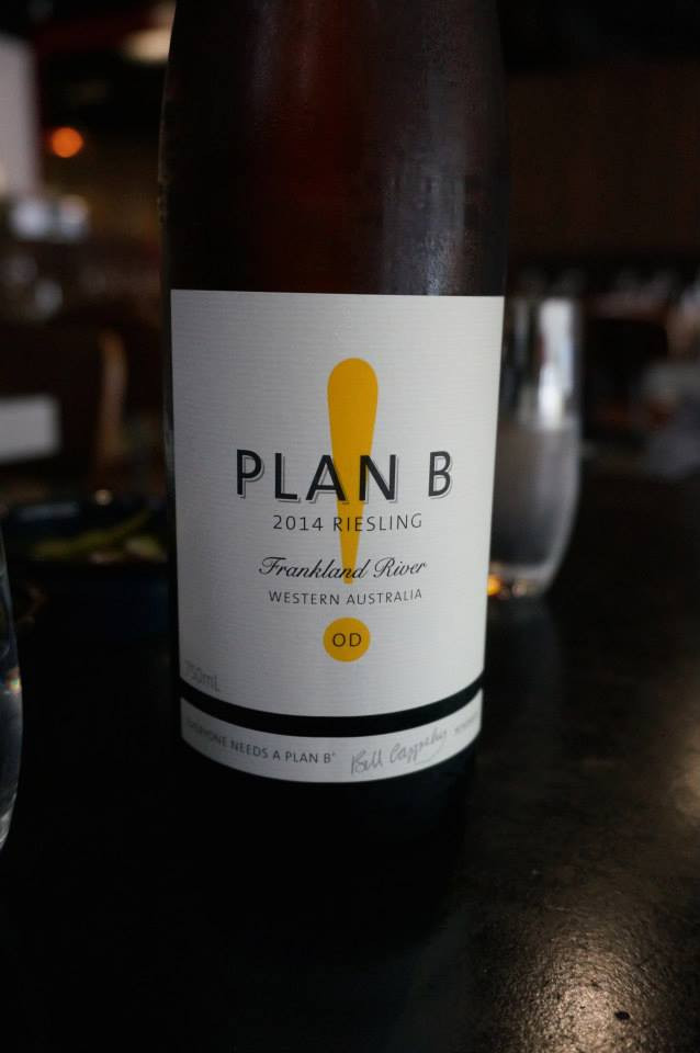 Plan B! Wines 2014 OD Riesling from the Frankland River, WA
