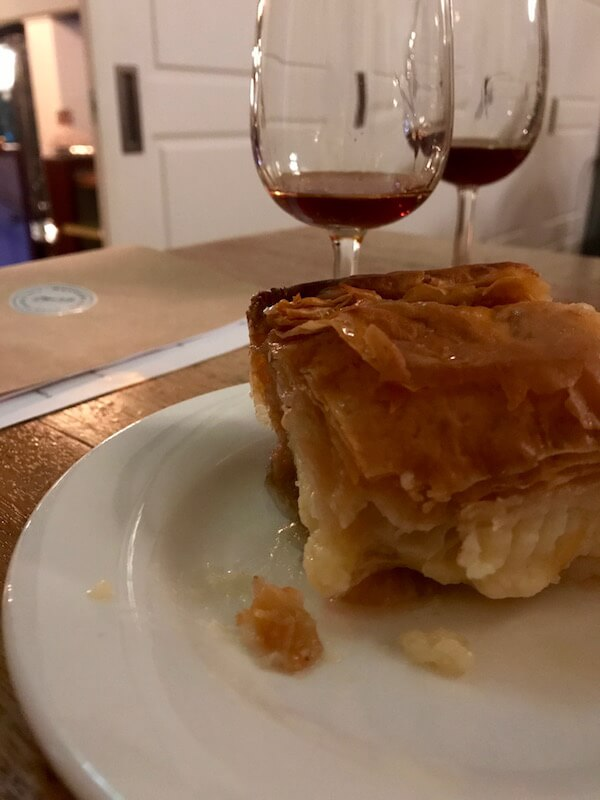 Greek Dessert Wine and Galaktoubouriko at Mayfair Lane Perth