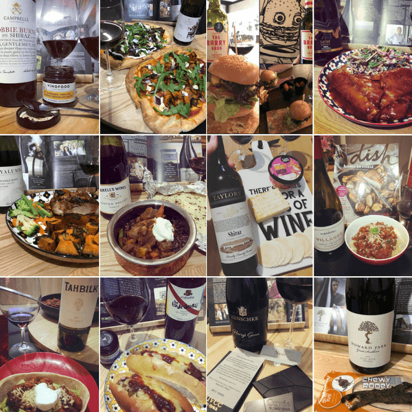 12 Days of Australian Shiraz & Food Matches