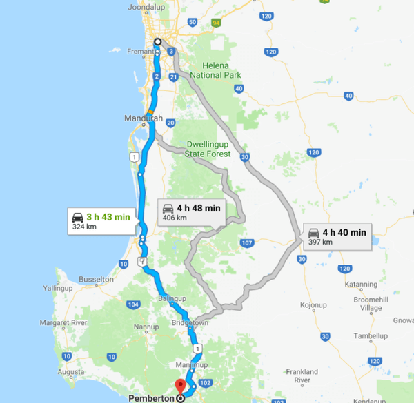 perth-pemberton-google-map