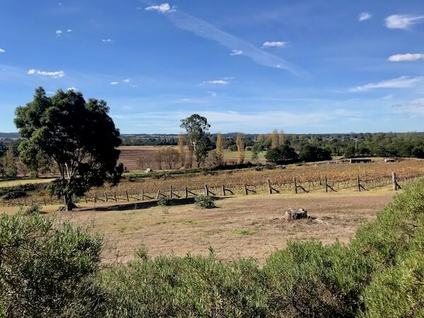 View from Glenmaggie Wines - Gippsland