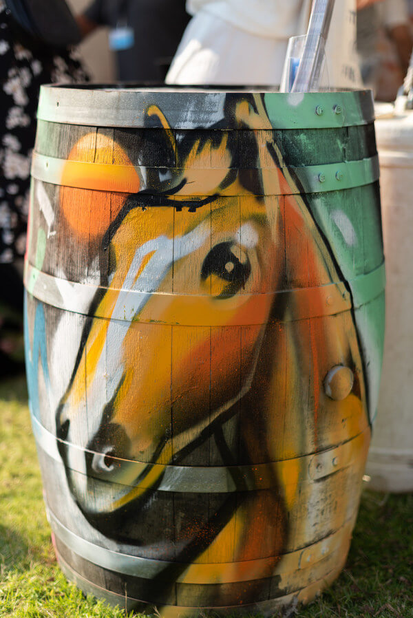 brown-horse-painted-onto-wine-barrel