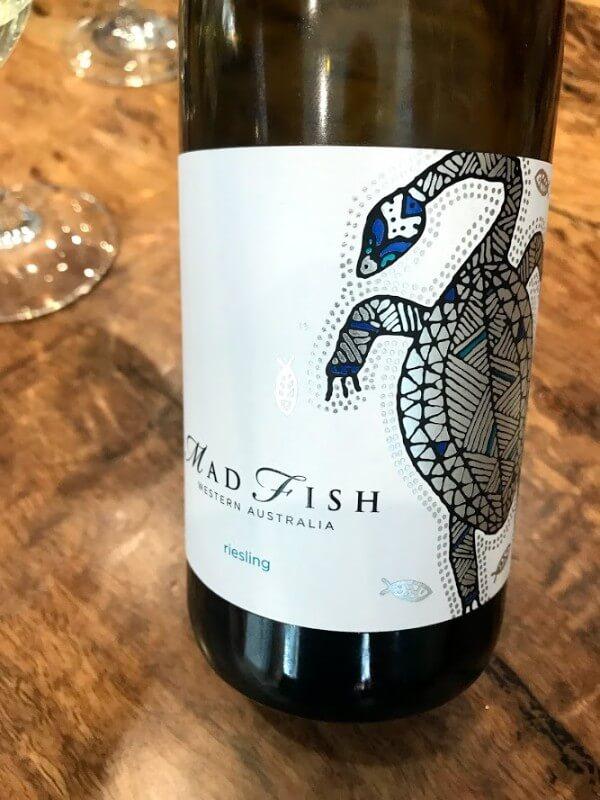 bottle of mad fish riesling at howard park urban cellar door perth