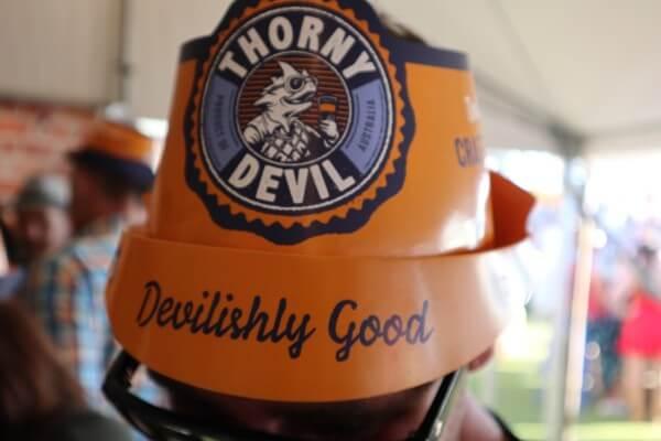 thorny devil orange hat