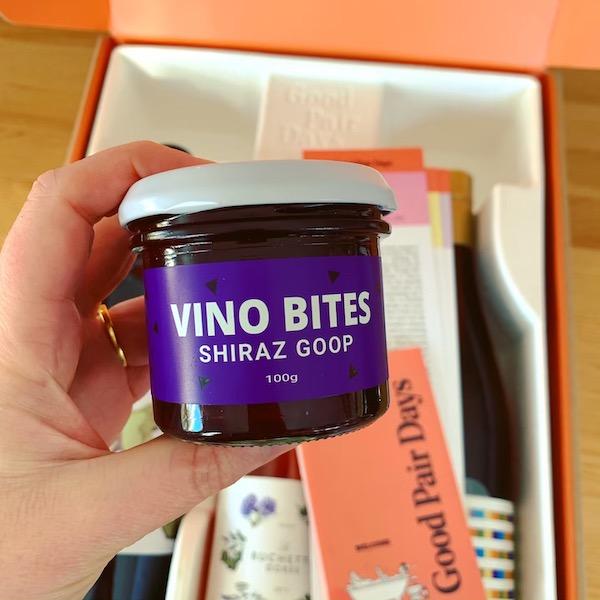 Good Pair Days Wine Box - Vino Bites Shiraz Goop
