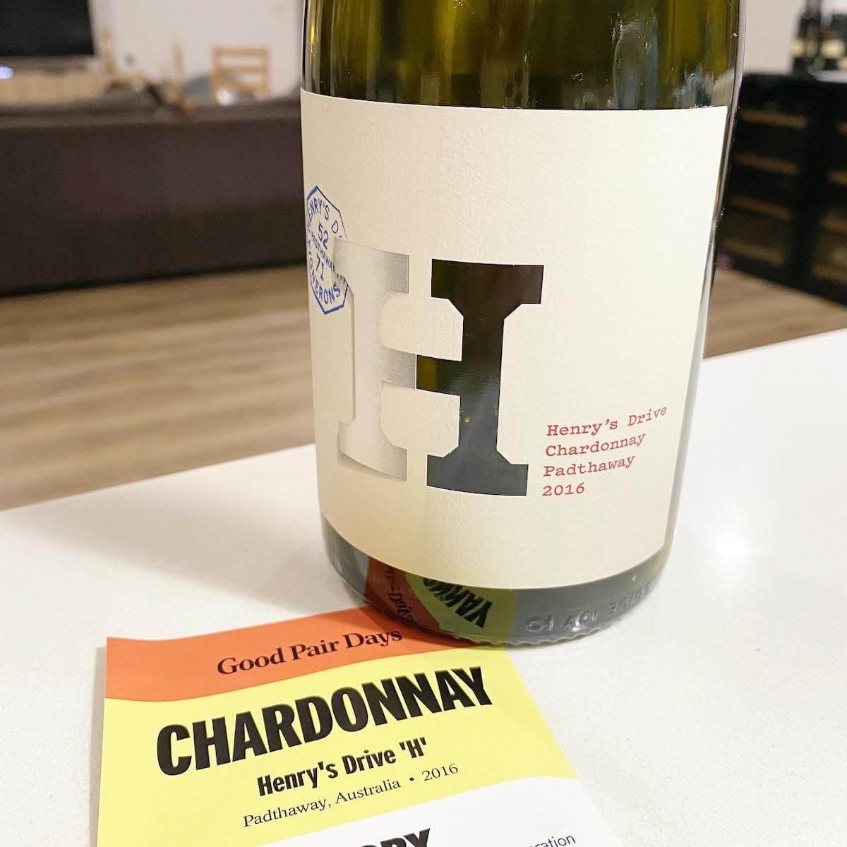Henry's Drive 'H' 2016 Chardonnay – Padthaway