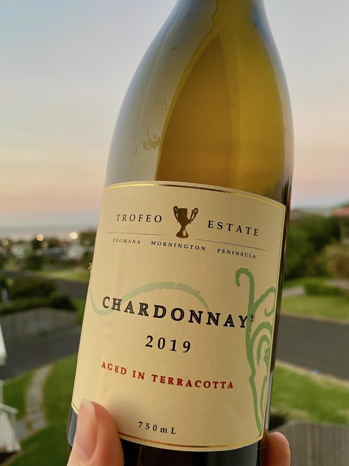 Trofeo Estate Amphora Chardonnay 2019 –  Aged in Terracotta