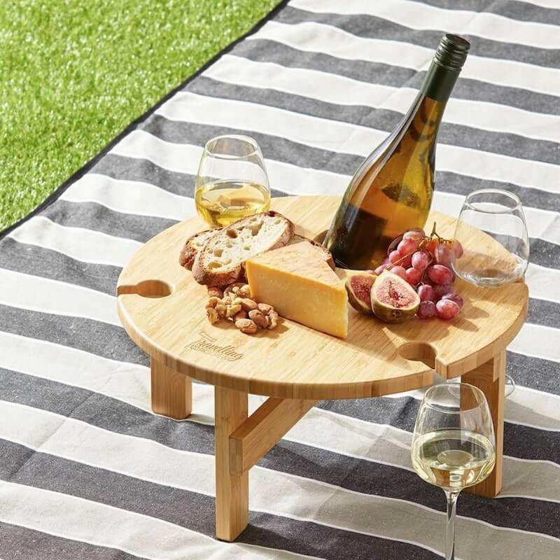 Branded Wine glass cheese board - promotional product - Minc Marketing
