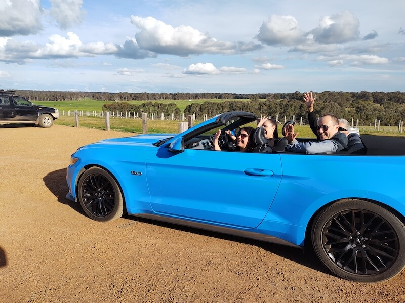 Margaret River Wine Tour by Mustang – Bold, Blue and Bespoke!
